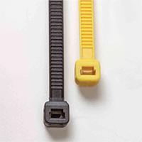 Poly-Cap Ties, 100, Yellow