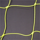 Soccer Goal Nets, 8' H., 24' W., 4' Top Depth, 10' Base Depth, Gold, Pair