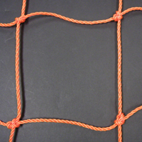 Soccer Goal Nets, 8' H., 24' W., 4' Top Depth, 10' Base Depth, Orange, Pair