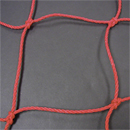 Soccer Goal Nets, 8' H., 24' W., 4' Top Depth, 10' Base Depth, Red, Pair