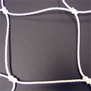 Soccer Goal Nets, 8' H., 24' W., 4' Top Depth, 10' Base Depth, White, Pair