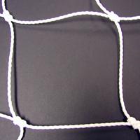 Soccer Goal Nets, 8' H., 24' W., 4' Top Depth, 10' Base Depth, White, Pair