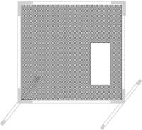 Screen Net Only for Softball Backyard Protector Net