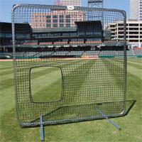 Premium Softball Pitcher Protective Screen, 7' X 7' w/Net