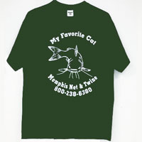 "T-Shirt, Official ""My Favorite Cat"", Military Green"