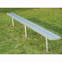 Permanent Mounted Benches Without Backs