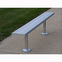 Surface Mounted Benches Without Backs