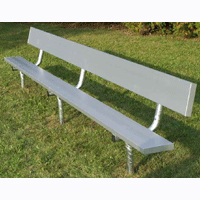 Permanent Mounted Benches With Backs