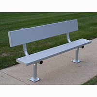 Surface Mounted Benches With Backs
