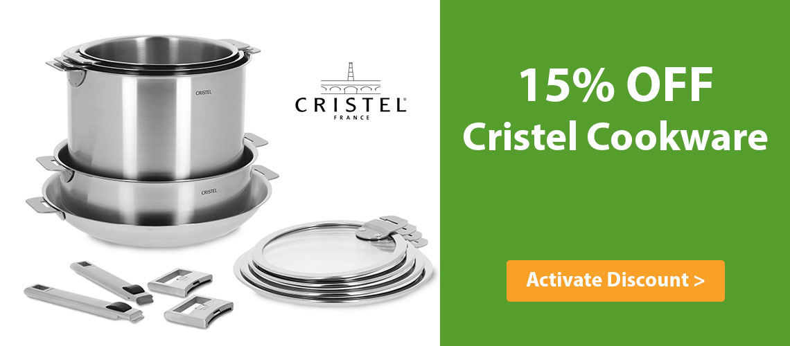Save 15% off Cristel