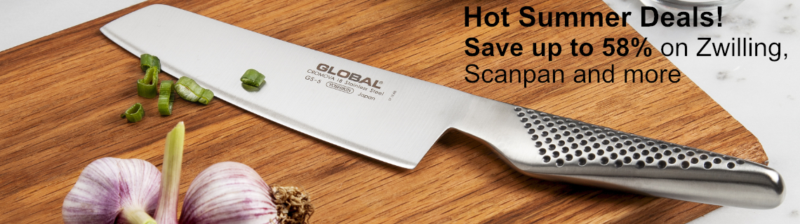 Save up to 58% off on Shun, Wusthof, Scanpan and more