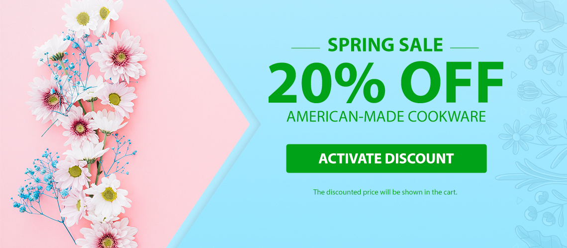 20% Off American-made Cookware