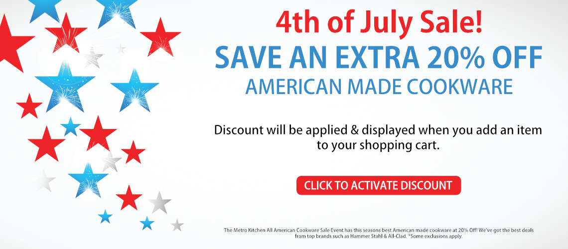 Save 20% off All American Made Cookware