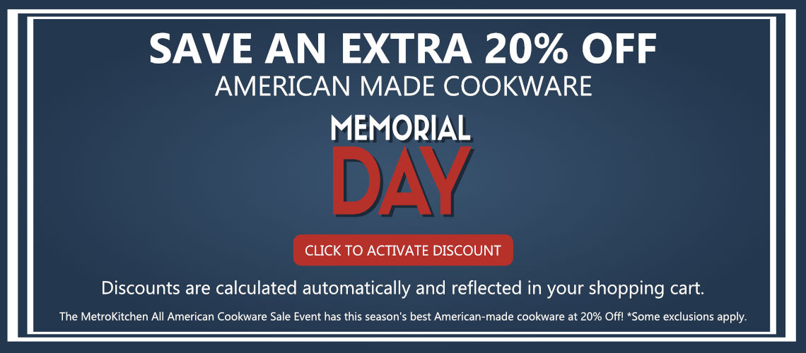 20% American Made Cookware