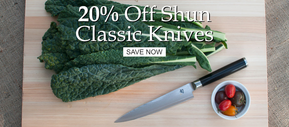 Save 20% off Shun Classic Knives