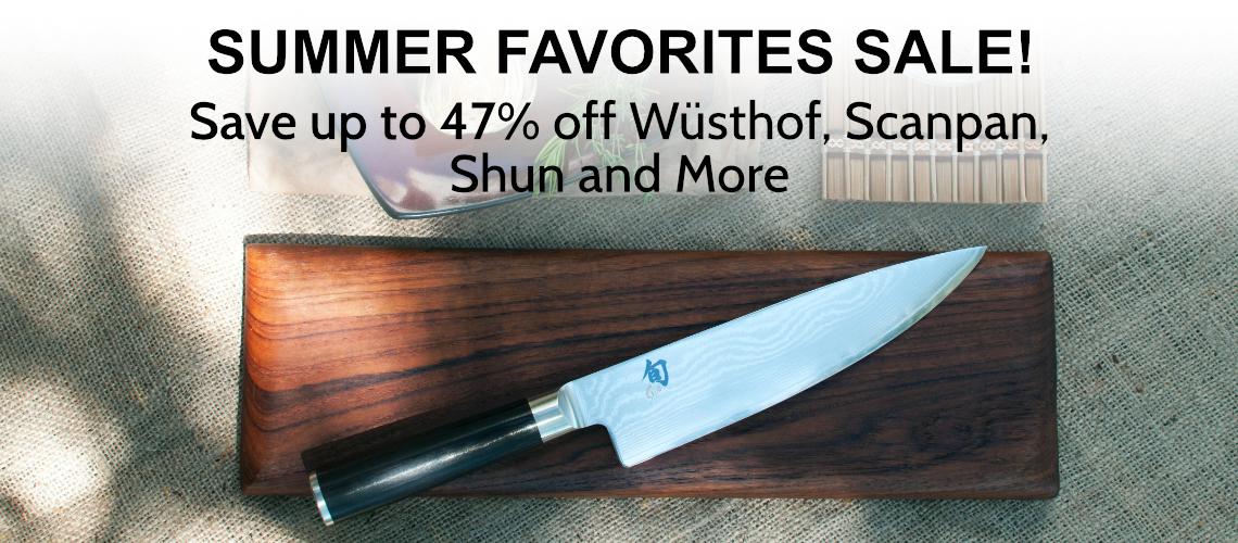 Save up to 47% off on Shun, Wusthof, Scanpan