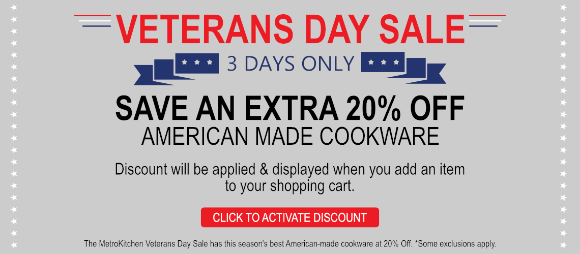 Save %20 American Made Cookware