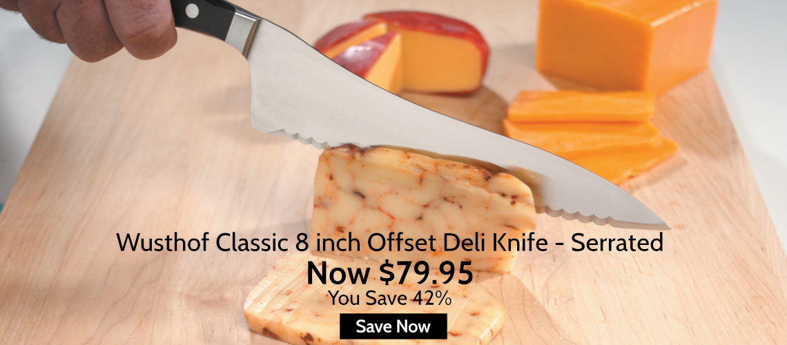 Save 42% off Wusthof Classic 8 Inch Offset Serrated Deli Knife