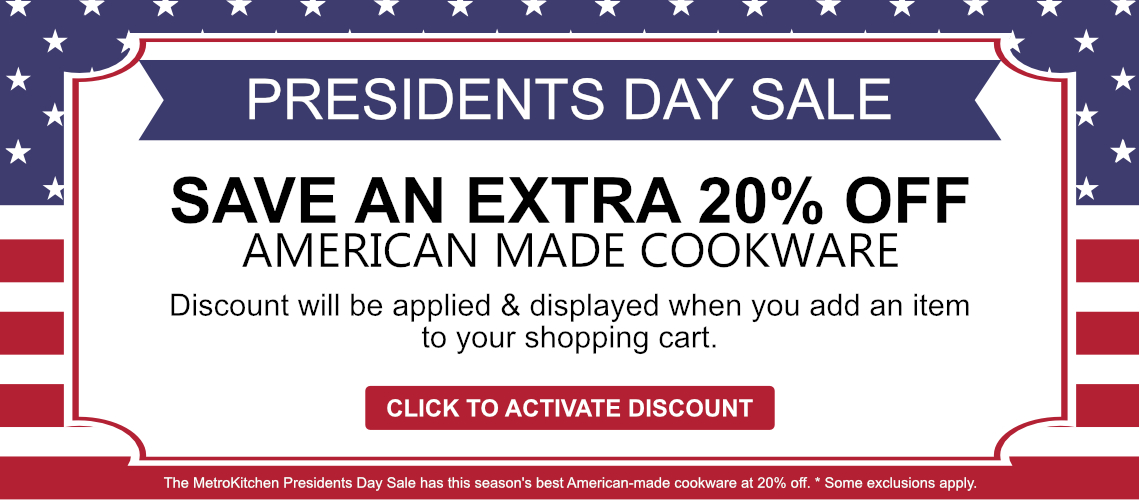 Save 20% off American-made Cookware