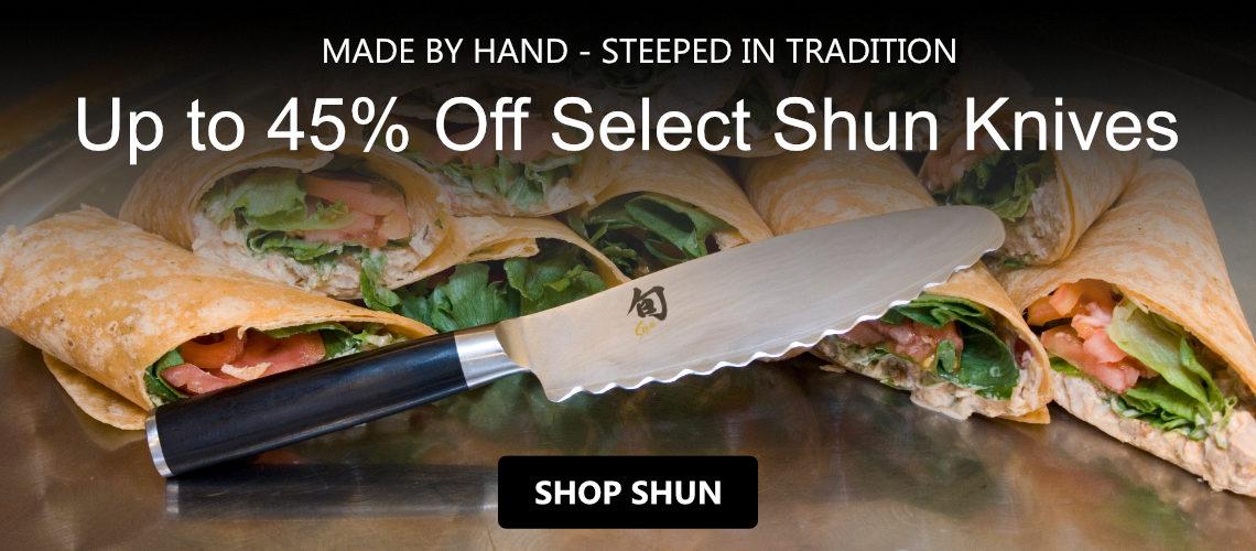Save 45% off Select Shun Cutlery and KAI Accesories