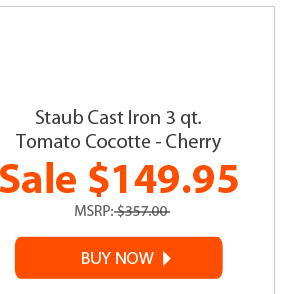 staub cast iron 3 qt. tomato cocotte - cherry for $149.95 - buy now!