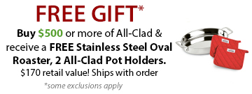 All-Clad Cookware Free Gifts
