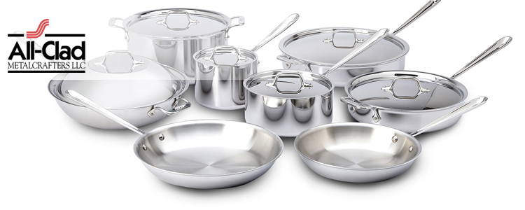 All-Clad d3 Tri-Ply Stainless Steel Cookware