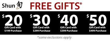 Shun Free Gifts