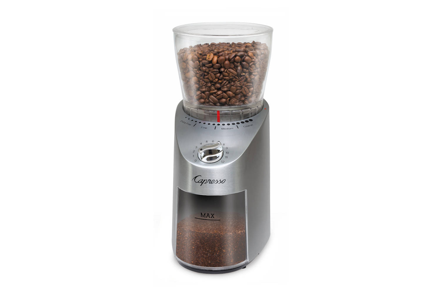 Capresso Infinity Plus Conical Burr Grinder - Stainless Steel