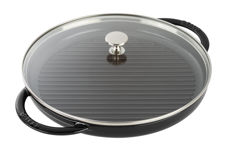 Staub Cast Iron 12 inch Steam Grill - Matte Black