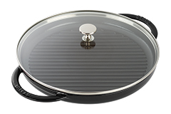 Staub Cast Iron 12 inch Steam Grill - Matte Black