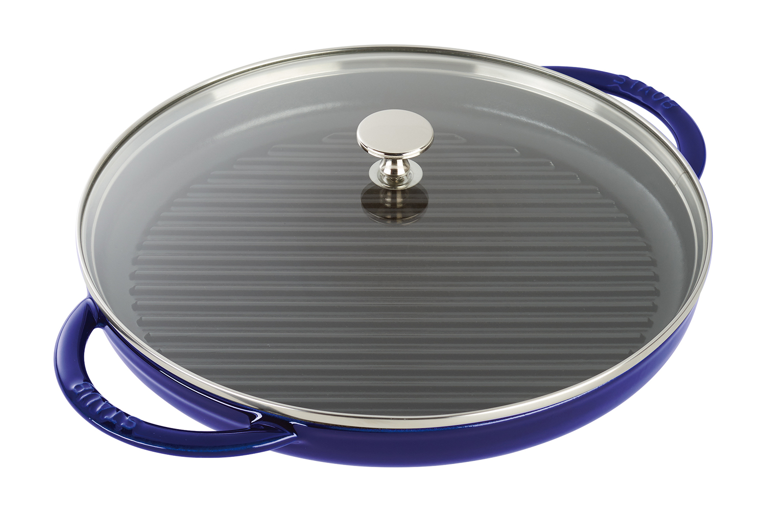 Staub Cast Iron 12 inch Steam Grill - Dark Blue