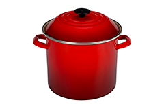 Le Creuset Enamel on Steel 20 qt. Stock Pot - Cerise