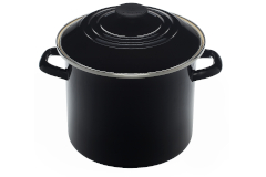 Le Creuset Enamel on Steel 8 qt. Stock Pot - Black
