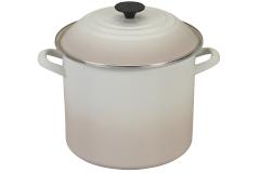 Le Creuset Enamel on Steel 10 qt. Stock Pot - Meringue