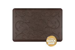 Wellness Anti-Fatigue Kitchen Mat, Bella - 3 x 2 ft. - Antique Dark