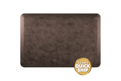 Wellness Anti-Fatigue Kitchen Mat, Linen - 3 x 2 ft. - Antique Dark
