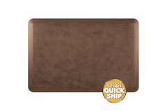 Wellness Anti-Fatigue Kitchen Mat, Linen - 3 x 2 ft. - Antique Light