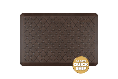 Wellness Anti-Fatigue Kitchen Mat, Trellis - 3 x 2 ft. - Antique Dark