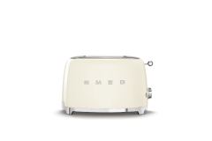 Smeg Retro Style 2x2 Slice Toaster - Cream