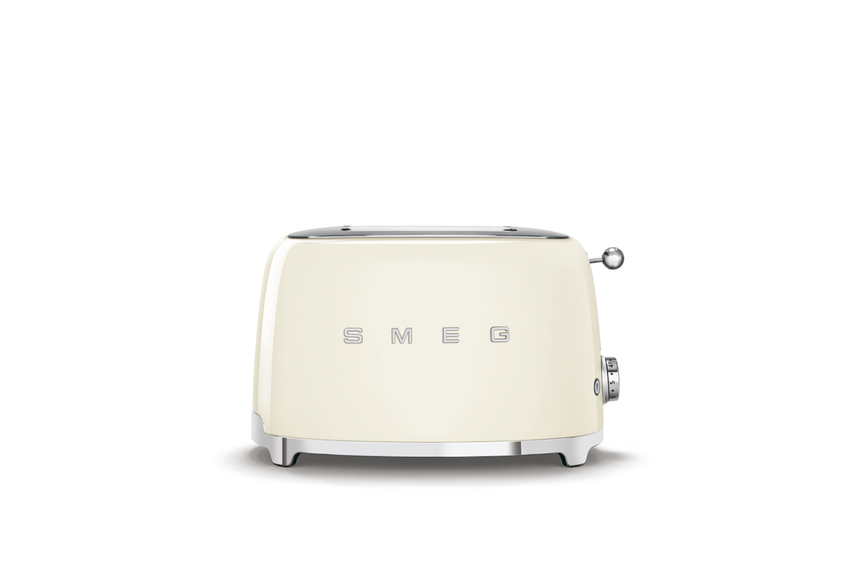 Smeg Retro Style 2x2 Slice Toaster - Cream