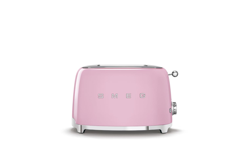 Smeg Retro Style 2x2 Slice Toaster - Pink