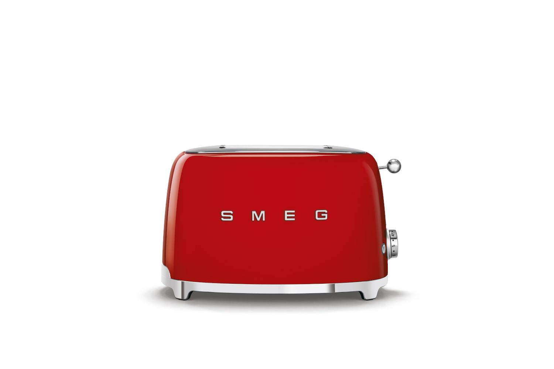 Smeg Retro Style 2x2 Slice Toaster - Red