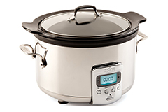 All-Clad 4 qt. Electric Slow Cooker w/Black Ceramic Insert