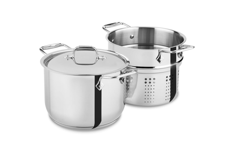 All Clad Stainless 6qt Pasta Pot W Insert 2100078499