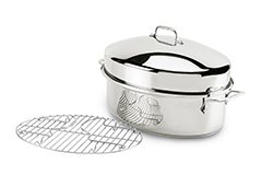 All-Clad Stainless Steel Covered Oval Roaster with Rack