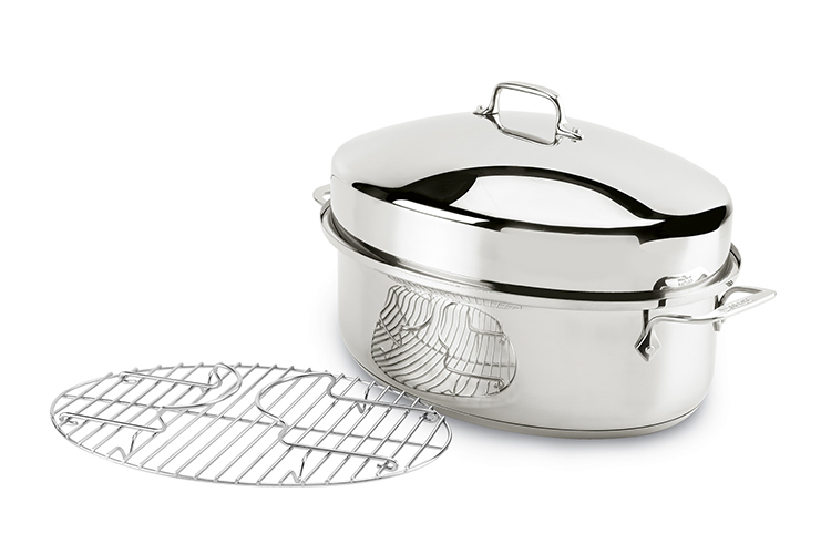 All Clad Stainless Steel Covered Oval Roaster Ac 2100089398
