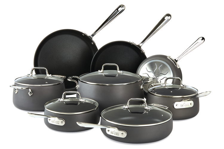 All Clad Hard Anodized Ha1 Non Stick 13 Piece Cookware Set