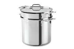 All-Clad Stainless Steel 8 qt. Disc Bottom Multi-Cooker Stock Pot