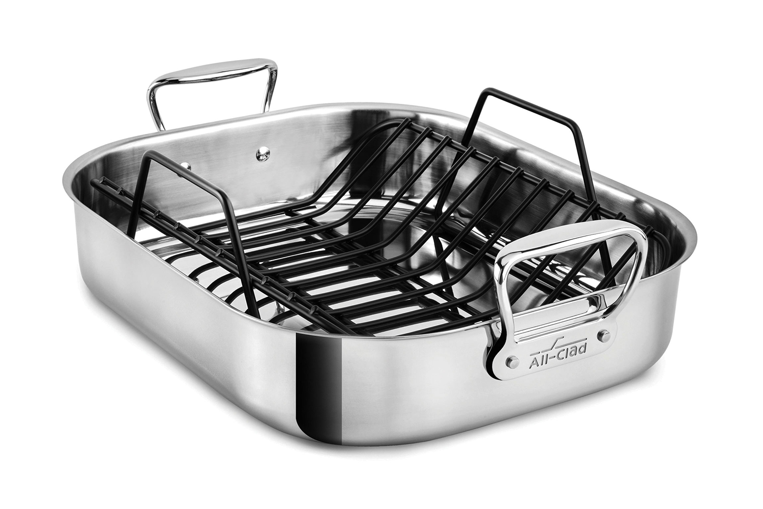 All-Clad Stainless Steel 16 x 13 inch Large Roaster w/Rack